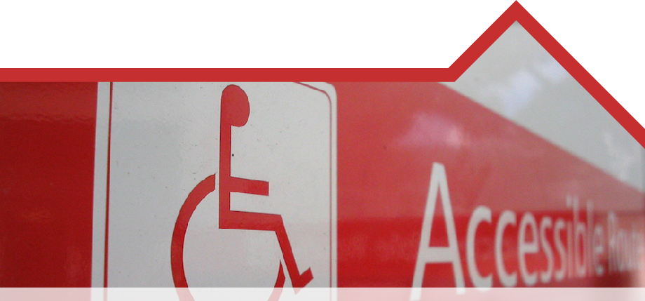 Image of an accessibility sign.